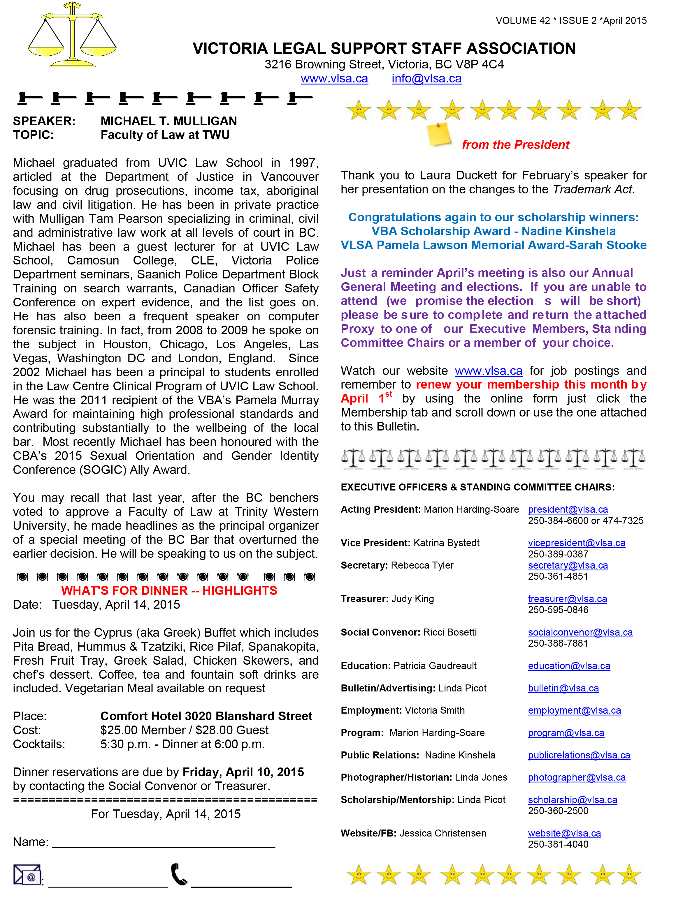 Microsoft Word - VLSA Bulletin April 2015