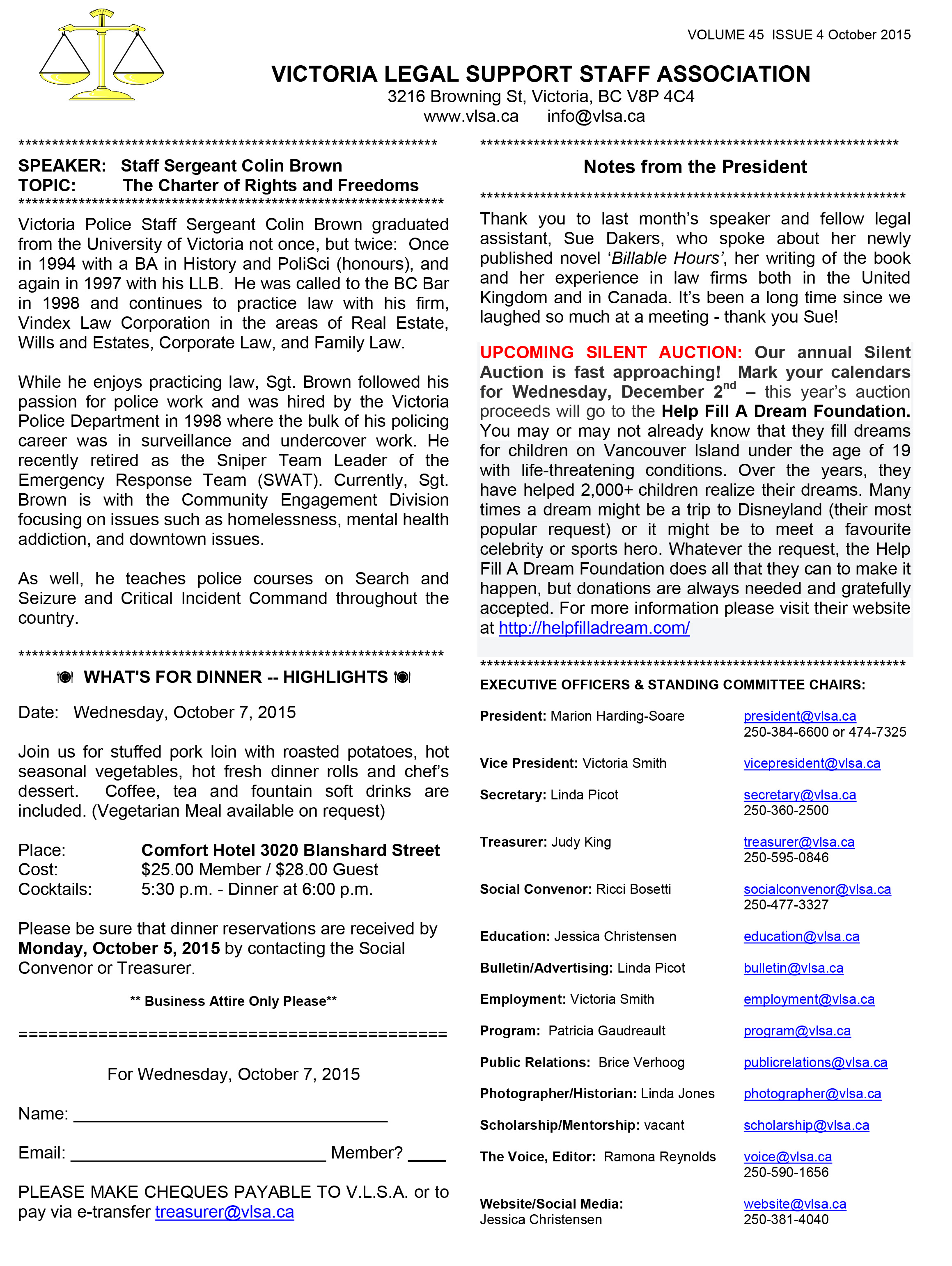 Microsoft Word - VLSA bulletin Oct 2015 DRAFT